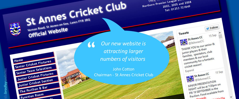 Great customer Review from St Annes Cricket Club