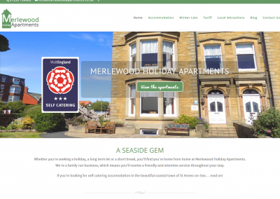 Merlewood Holiday Apartments Web Design