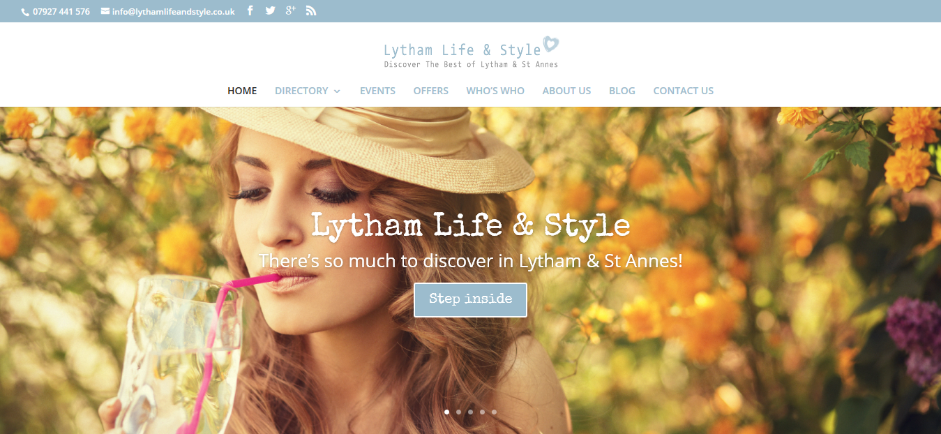 Lytham Life & Style Community Events, Directory & Blog Web Design