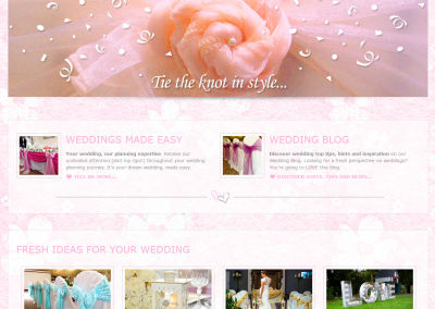 Sophisticated Events Web Design