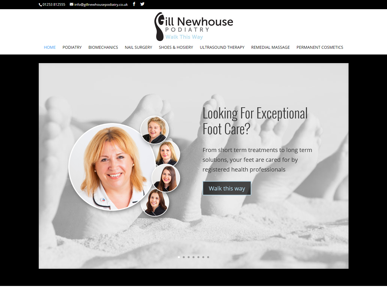 Gill Newhouse Podiatry Services Web Design