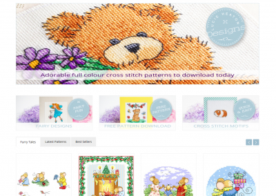 Lucie Heaton Cross Stitch Designs International Online Store Web Design