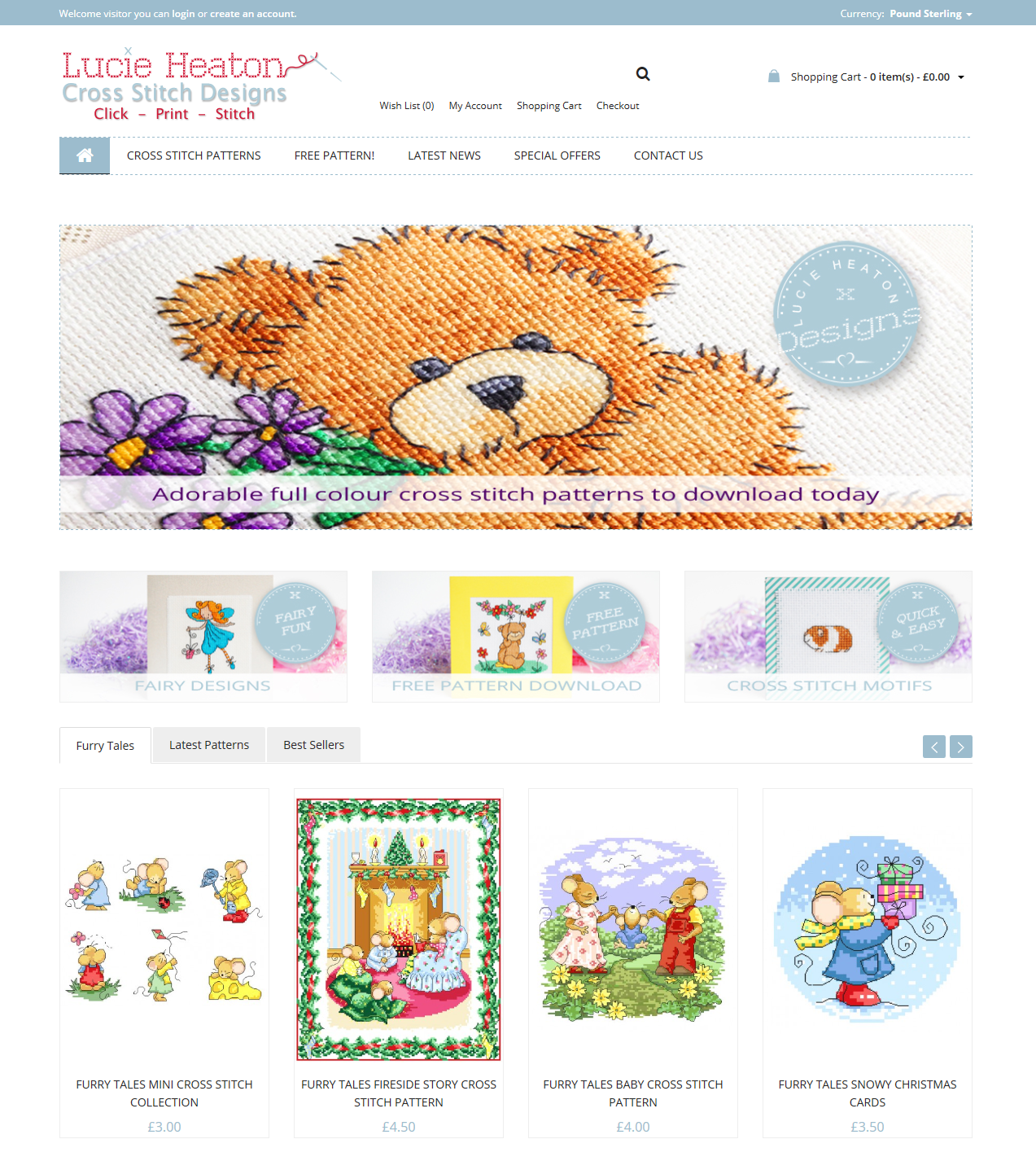 Lucie Heaton Cross Stitch Designs International Online Store Web Design
