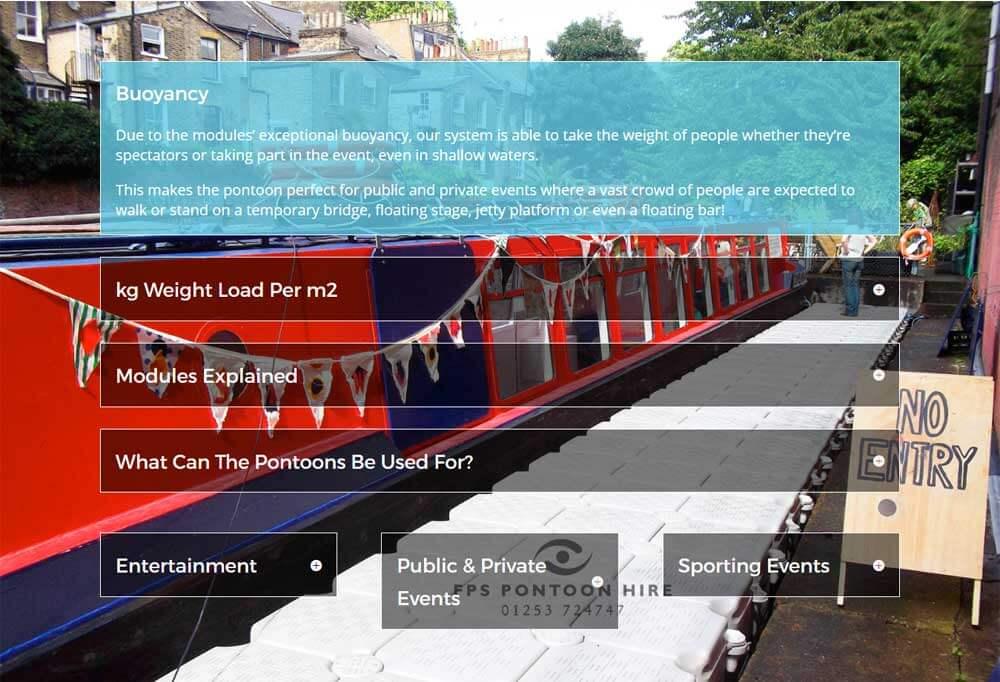 Floating Pontoon Solutions | Mobile Friendly Website Design