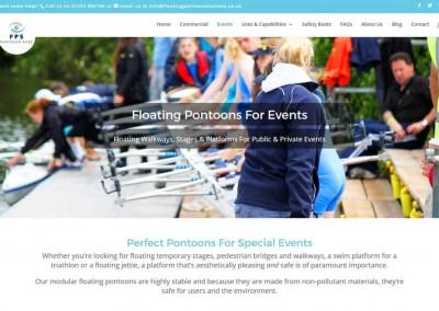 Floating Pontoon Solutions Web Design