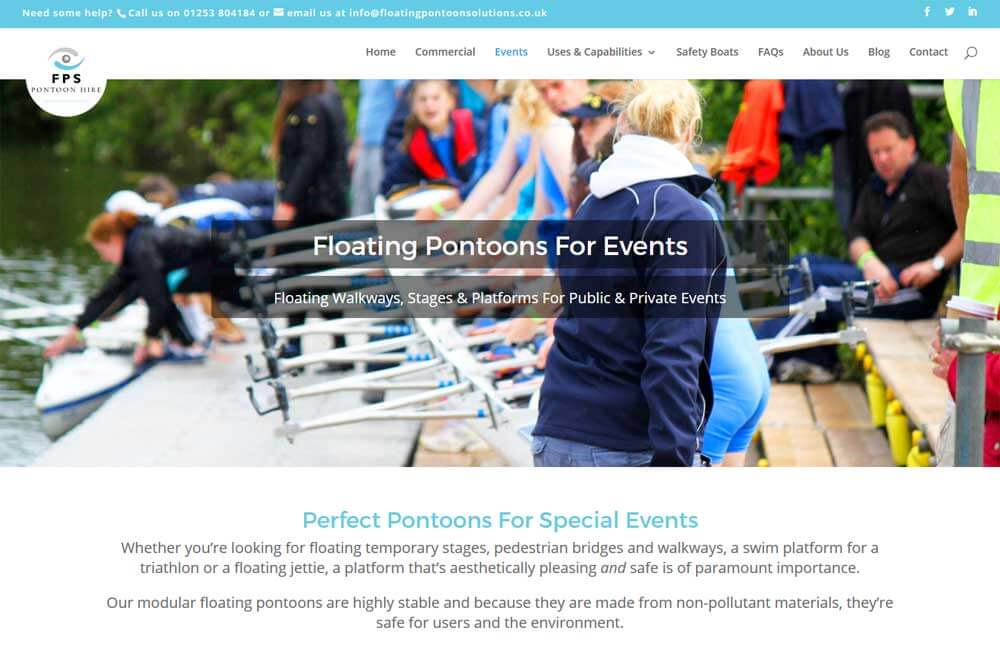 Mobile Friendly Website - Events page banner image and introduction