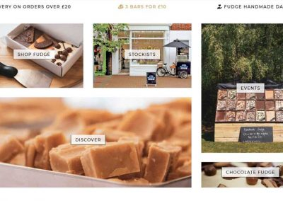 Sticky Chocolate & Handmade Fudge Online Store Web Design