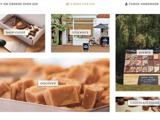 Sticky Chocolate & Handmade Fudge Online Store Web Design