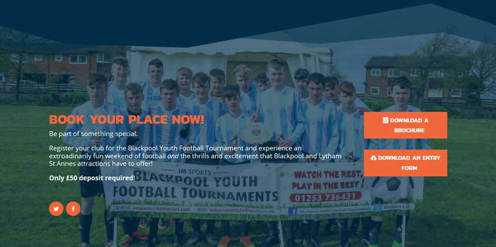 Download a tournament entry Booking Form