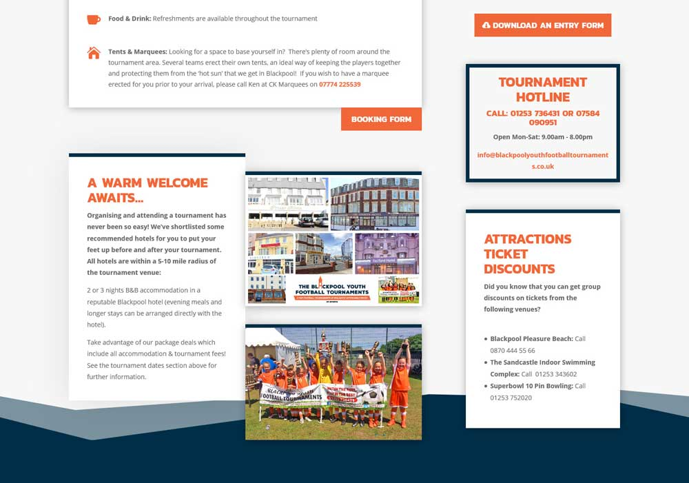 Information is displayed in a visually engaging & user friendly layout