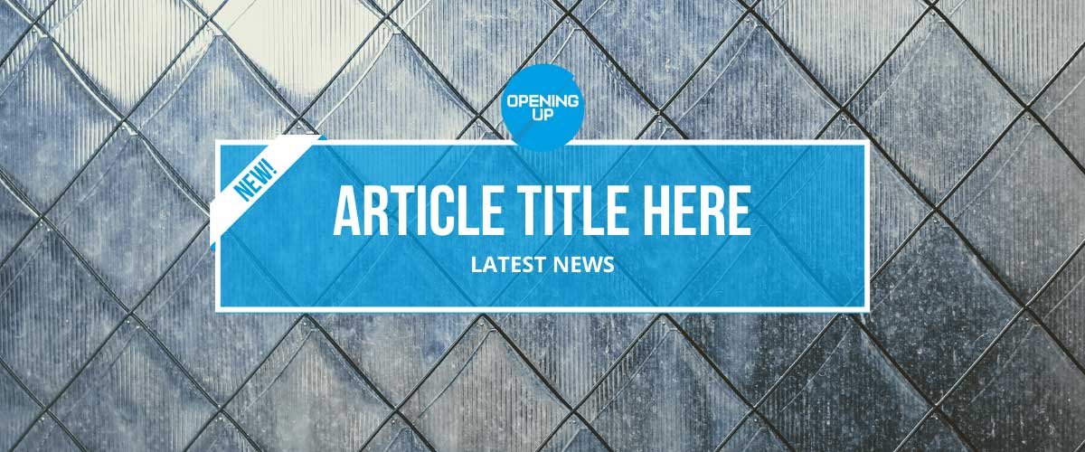 Website banner template to advertise new blog articles