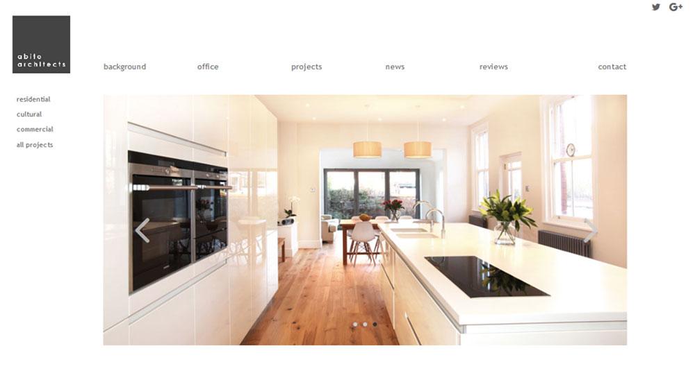 Abito Architects project - Bernie Bradley Websites bespoke web design