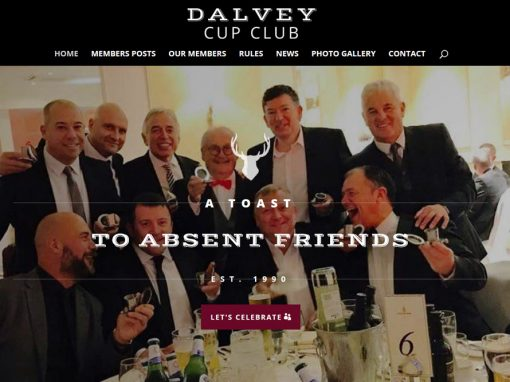 Dalvey Cup Club Web Design