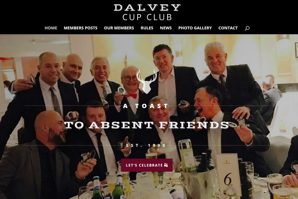 Home Page Hero Banner - Dalvey Cup Club website